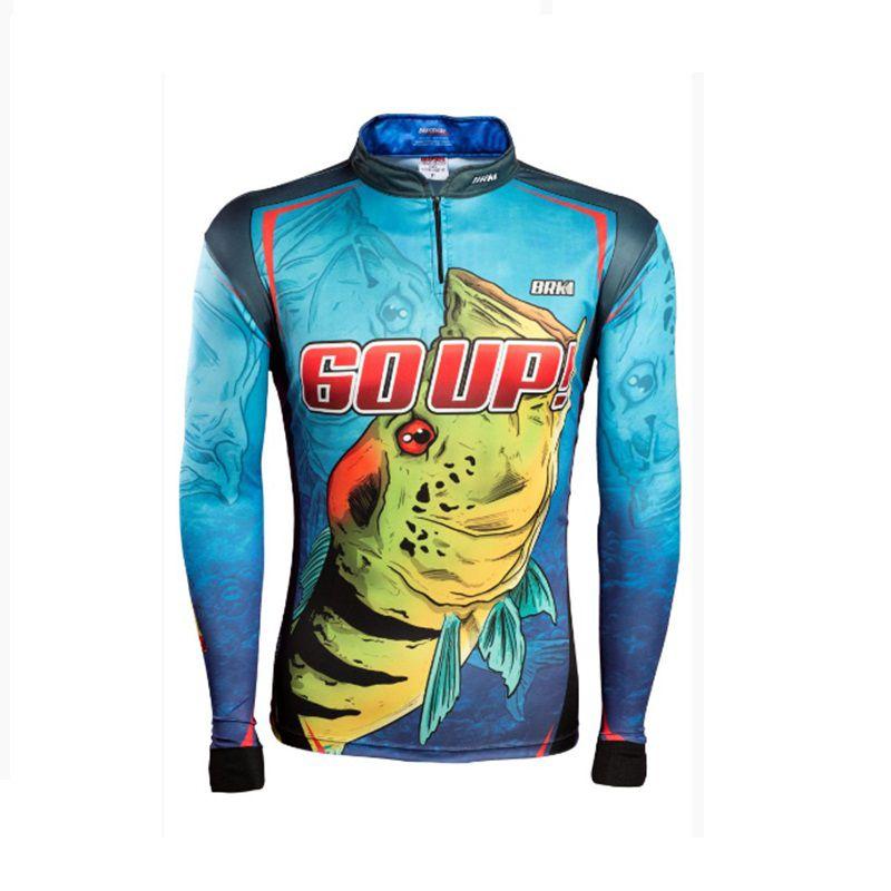 Camiseta BRK Fishing C0177 - 60 UP AZUL FPS 50+  - MGPesca