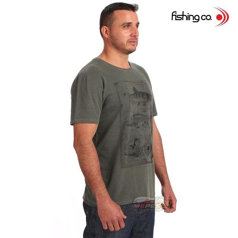 Camiseta Fishing co. Casual Anatomia Verde Escuro Ref. 1093  - MGPesca