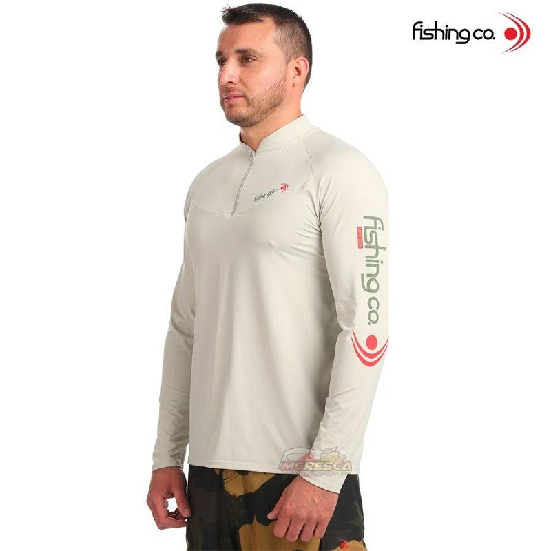 Camiseta Fishing co. Zíper FPS50+ Atacama Ref. 1082  - MGPesca