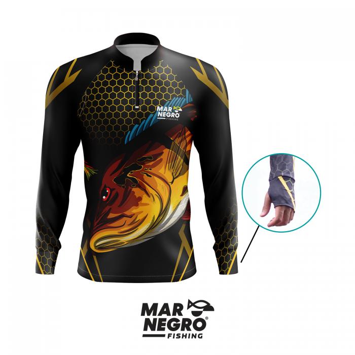 Camiseta Mar Negro Fishing Tucunaré c/ Jig Ref. 30098