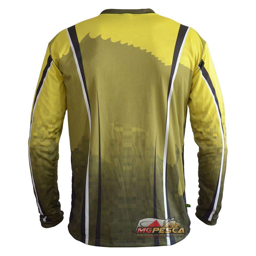 Camiseta MTK Atack V Amarela - FPS 35+  - MGPesca