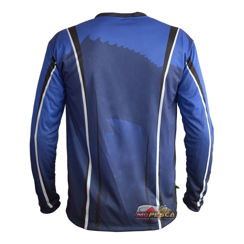 Camiseta MTK Atack V Azul - FPS 35+  - MGPesca