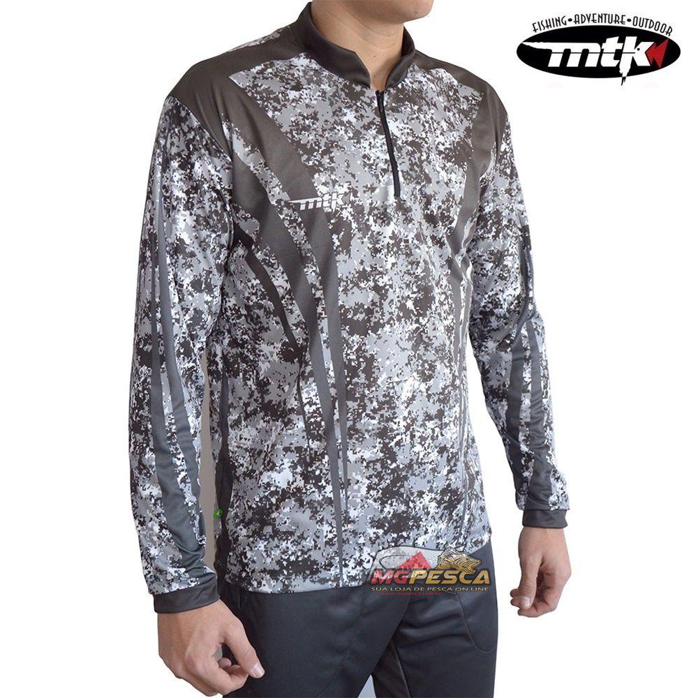 Camiseta MTK Atack Z Camuflado Cinza - FPS 35+  - MGPesca