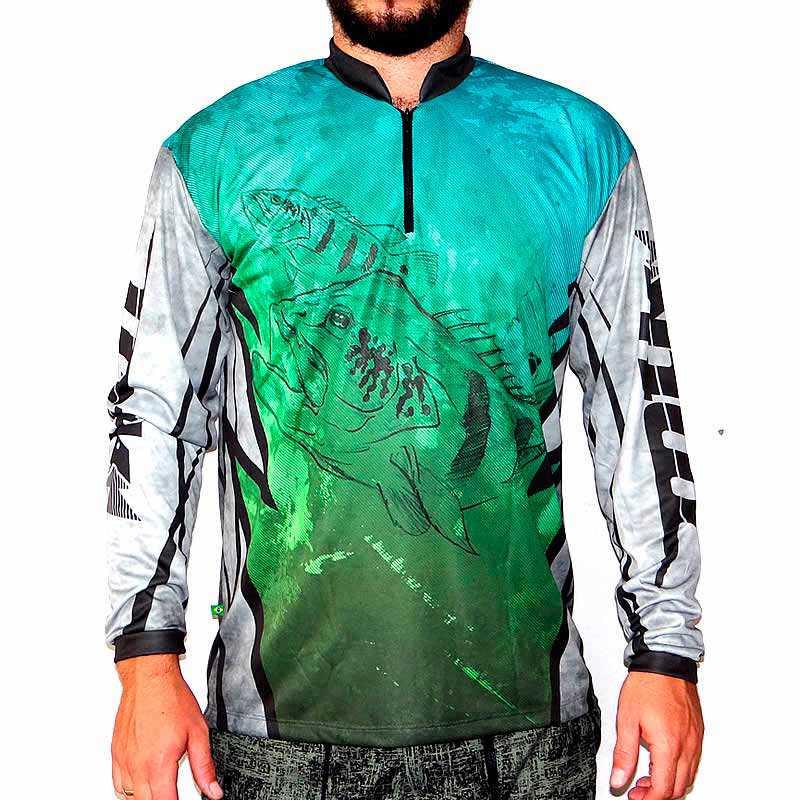 Camiseta MTK Atack Z Tucunaré - FPS 35+  - MGPesca
