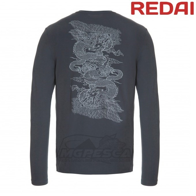 Camiseta Redai Performance Masculina Chumbo Mamushi  - MGPesca