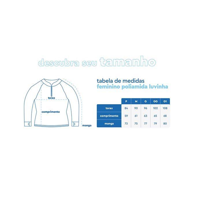Camiseta Feminina Mar Negro Fishing Poliamida - Azul Piscina Ref. 49272  - MGPesca
