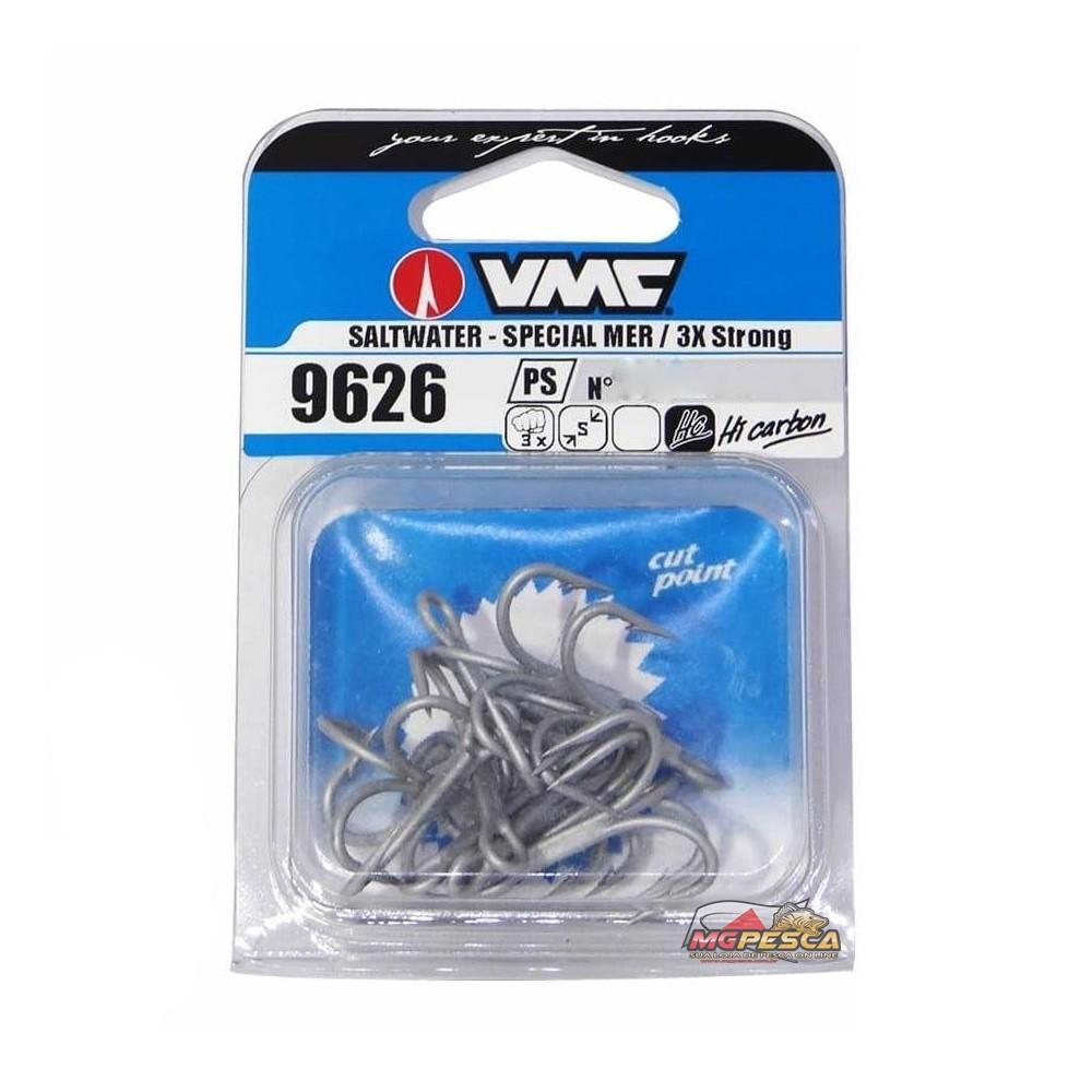 Garatéia VMC 9626PS Saltwater 3x - tamanho 06 - Pacote com 10 unidades  - MGPesca