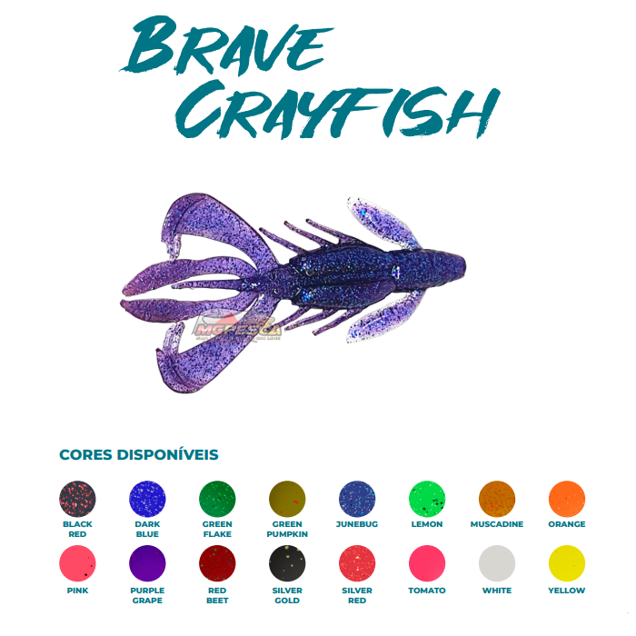 Isca Artificial Brave Worm - Brave Crayfish 11cm - 1 unidade  - MGPesca
