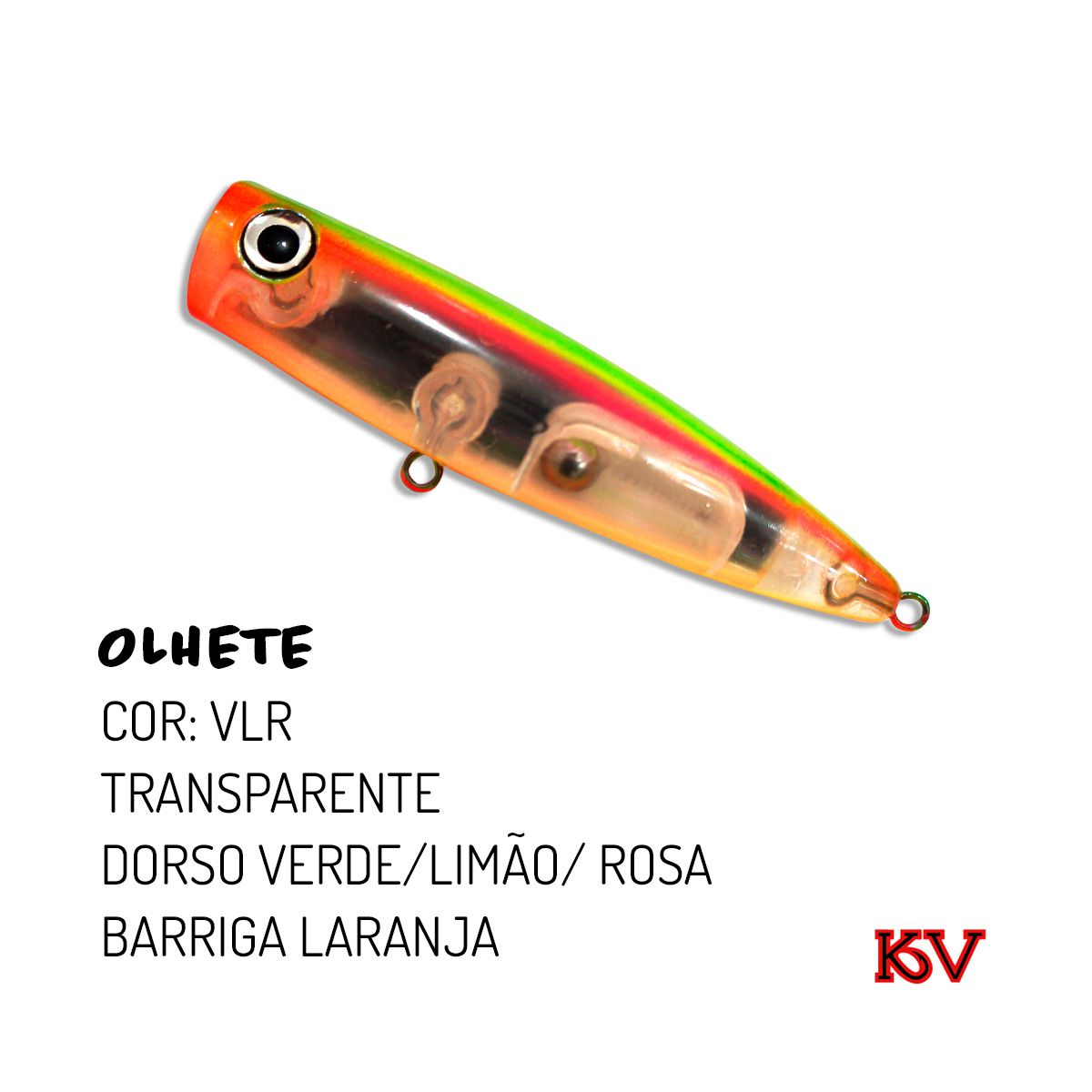 Isca Artificial KV Olhete 110 - 24g  - MGPesca