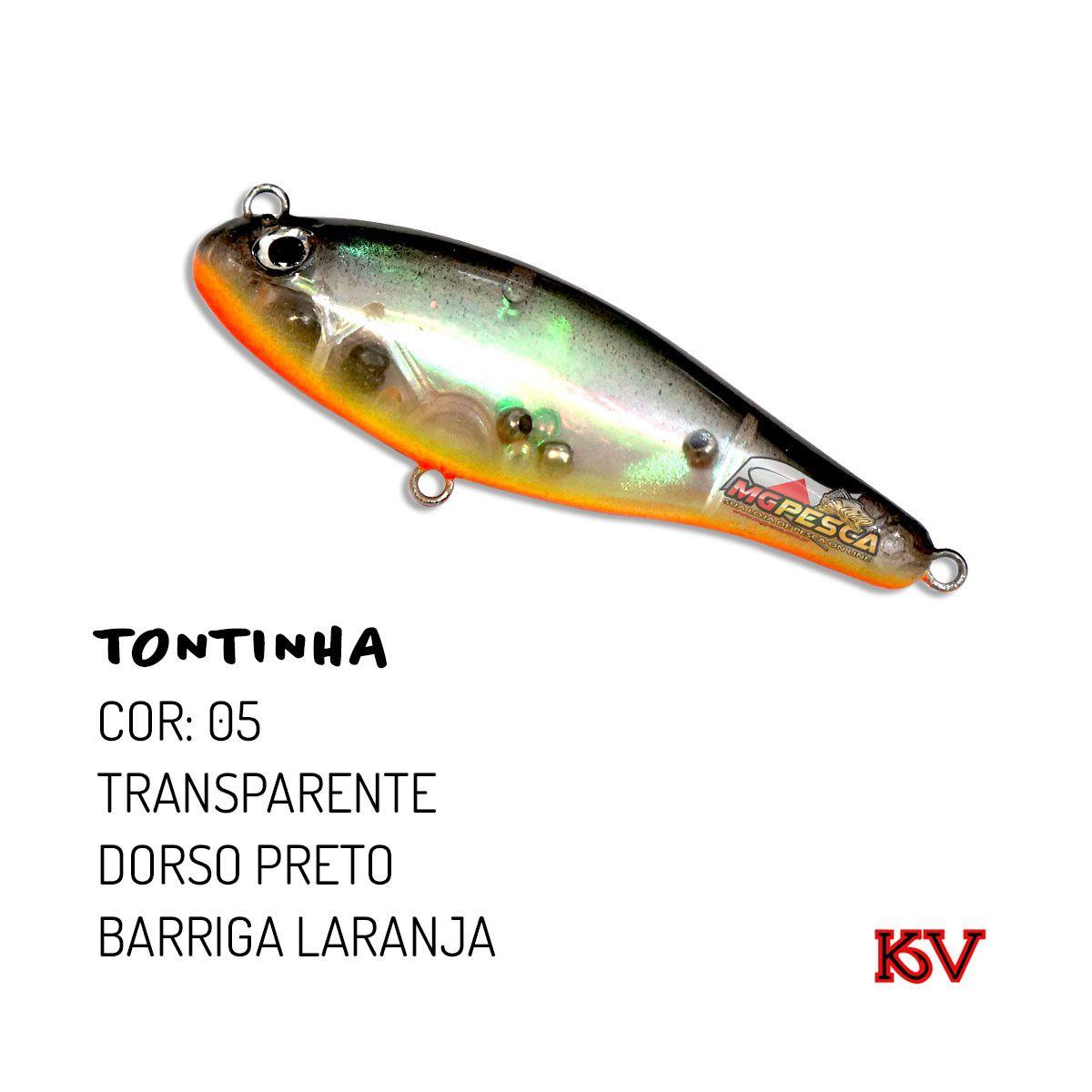 Isca Artificial KV Tontinha 75 - 10g  - MGPesca