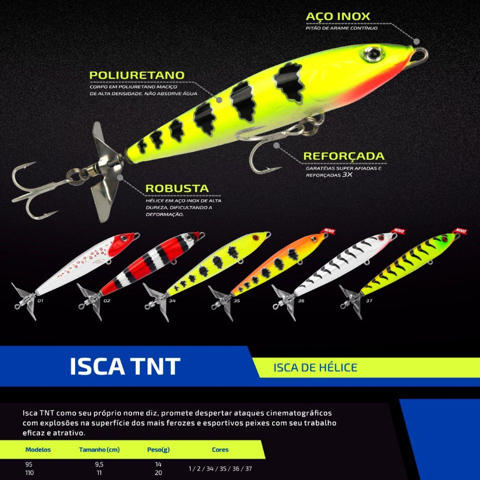 Isca Artificial Marine Sports TNT 110 By Johnny Hoffmann  - MGPesca