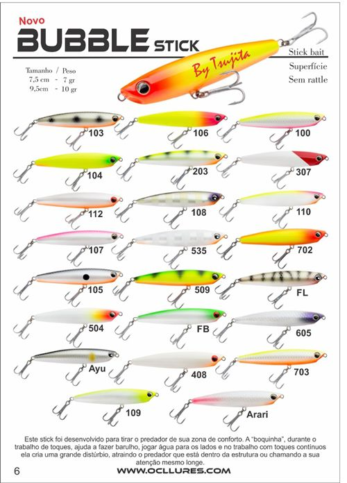 Isca Artificial OCL Lures Bubble Stick 95  - MGPesca