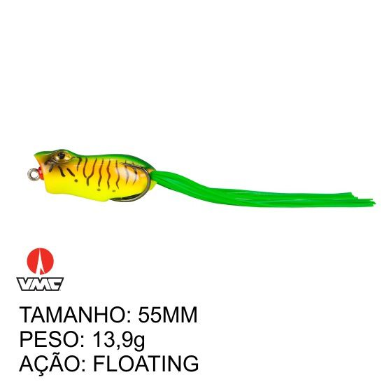 Isca Artificial Sumax Fred Frog Popper FP-55 - 6cm  - MGPesca