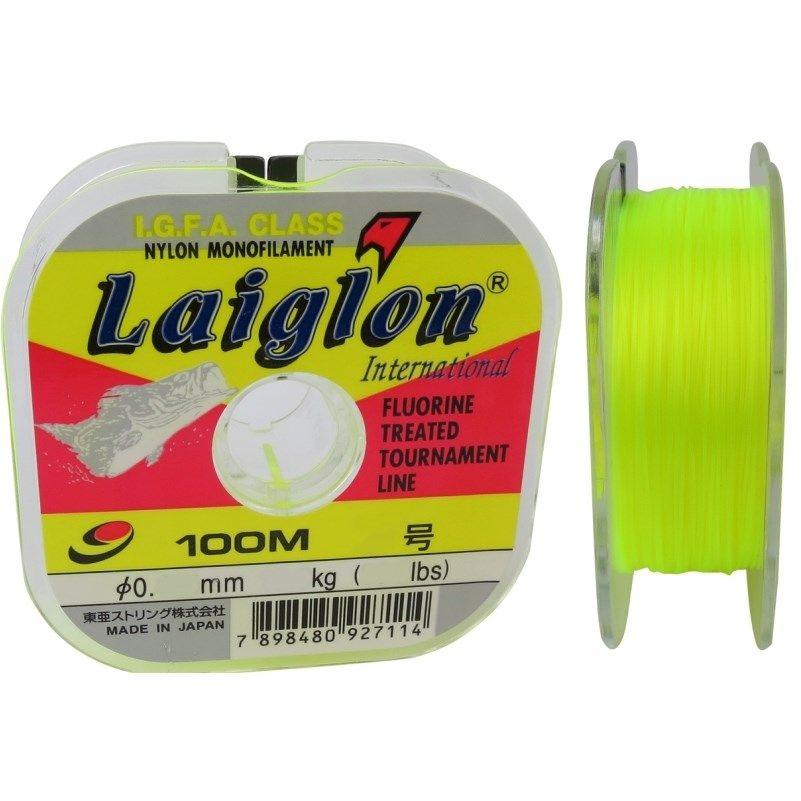 Linha Monofilamento Laiglon Amarela - 100m  - MGPesca