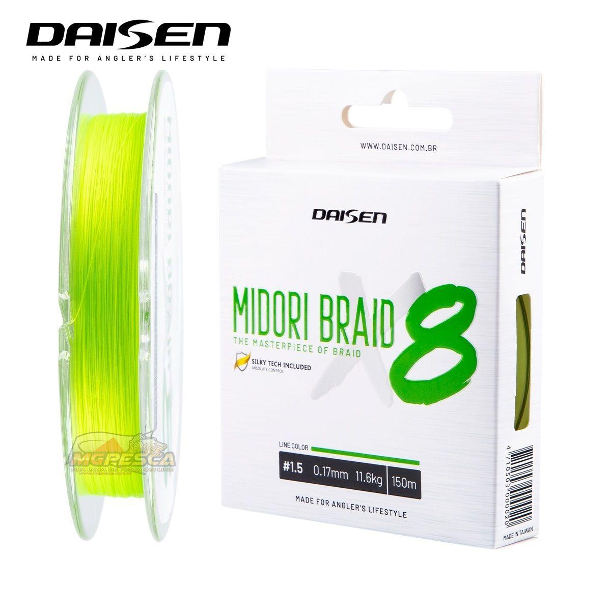 Linha Multifilamento Daisen Midori Braid X8 150m  - MGPesca