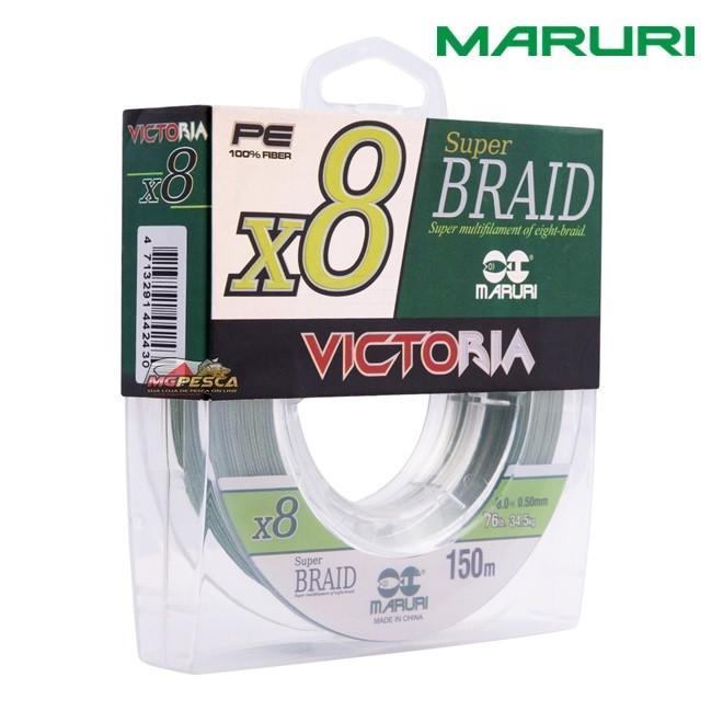 Linha Multifilamento Maruri PE 100% Fiber 8X Super Braid Victoria - 150m  - MGPesca