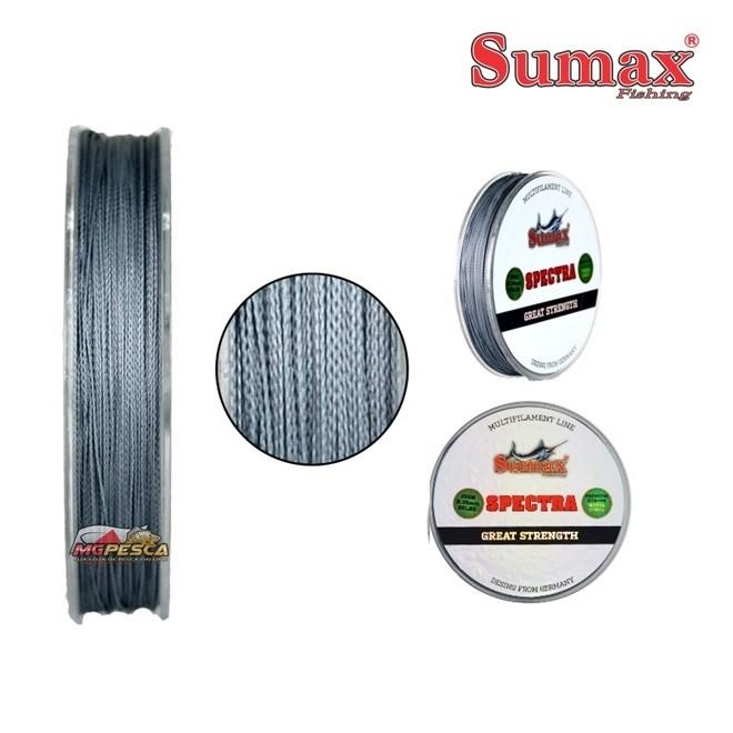 Linha Multifilamento Sumax Spectra Cinza - Carretel com 150m  - MGPesca