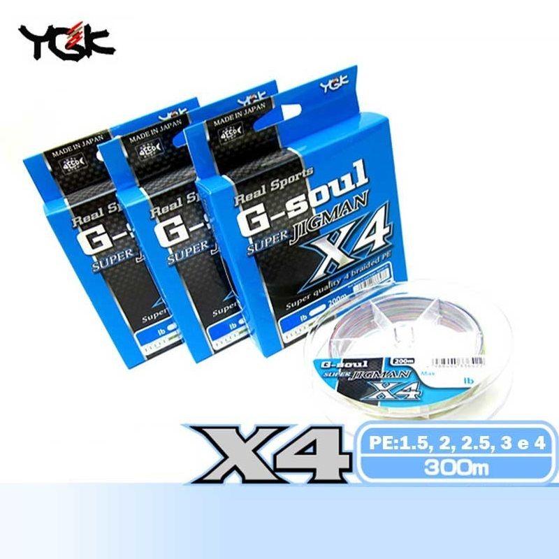 Linha Multifilamento YGK G-soul Super Jigman X4 300m  - MGPesca