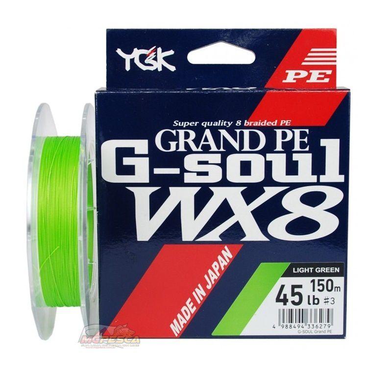 Linha Multifilamento YGK G-Soul WX8 Grand PE Line - 150m  - MGPesca