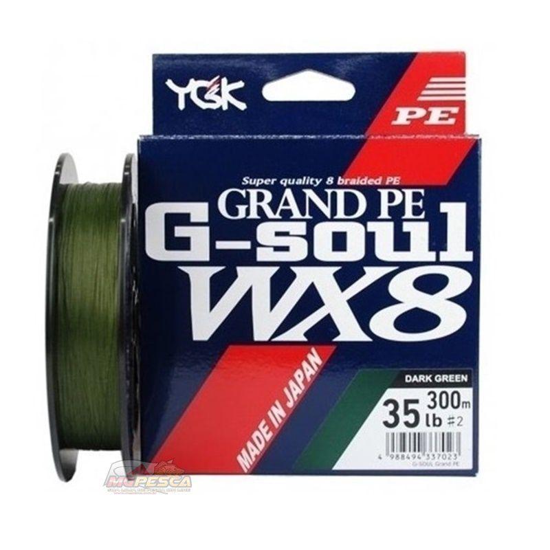 Linha Multifilamento YGK G-Soul WX8 Grand PE Line - 300m  - MGPesca