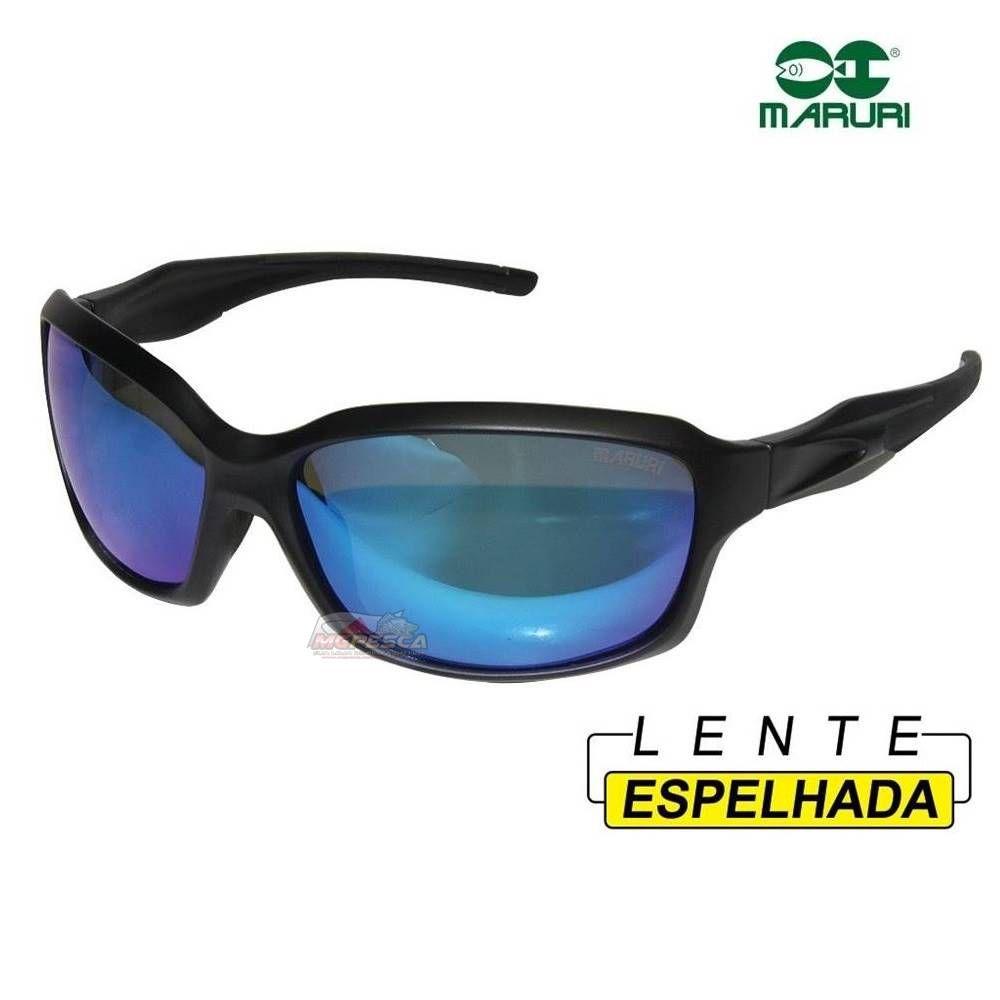 Óculos Polarizado Maruri ST-9977 Smoke / Icy Blue (Espelhado)  - MGPesca