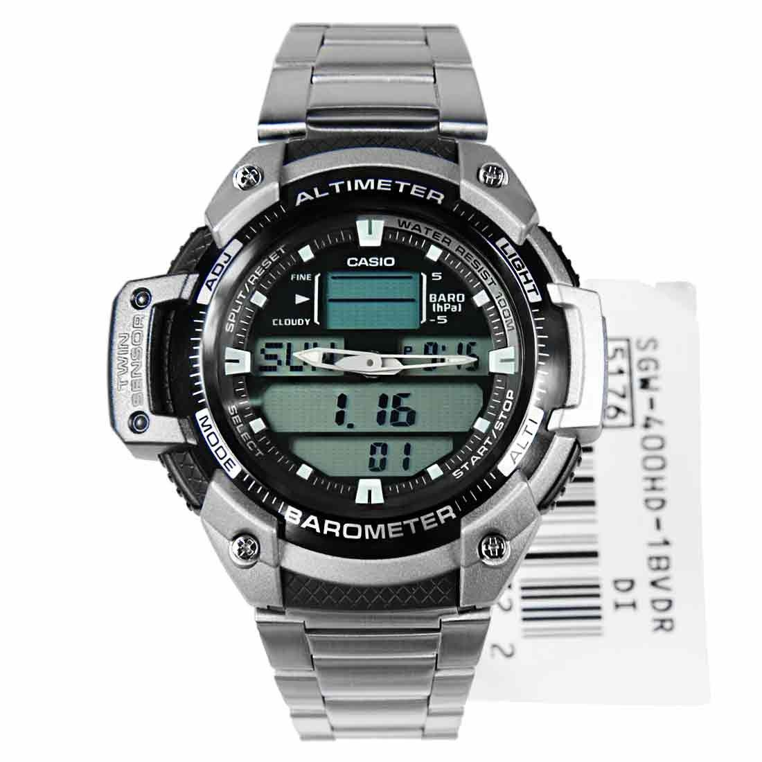 Relógio Casio OutGear SGW-400HD com Barômetro e Altímetro  - MGPesca