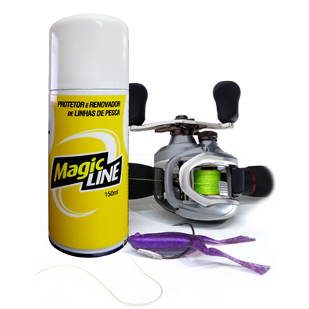 Renovador de Linhas Monster 3X Spray Magic Line  - MGPesca