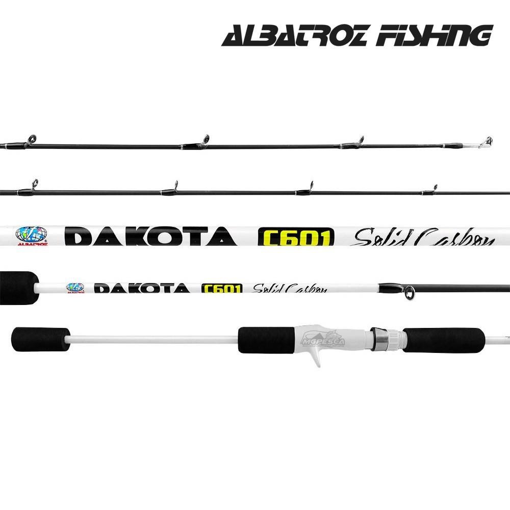 "Vara para carretilha Albatroz Dakota 6"" (1,83m) 12 Lbs - Solid Carbon  - MGPesca"