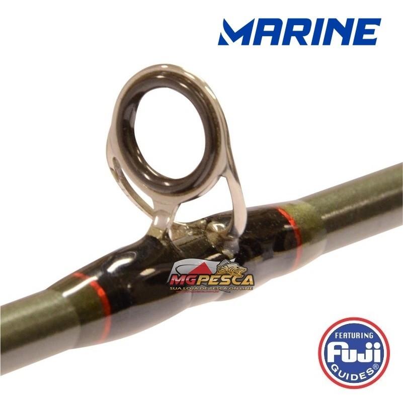 """Vara para carretilha Marine Sports Evomax 6´6"""" (1,98m) 60 Lbs - EM-C661H  - MGPesca"""