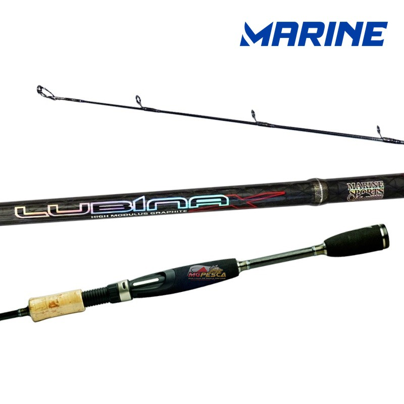 "Vara para molinete Marine Sports Lubina X 6"" (1,83m) 25 Lbs - LUX-S601MH  - MGPesca"