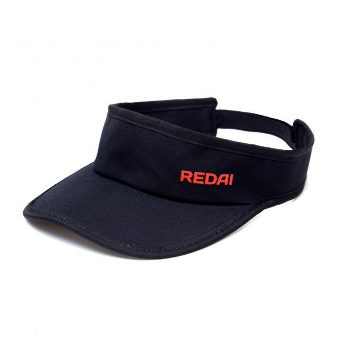 Viseira Redai - Cinza - Preto - Vermelho  - MGPesca