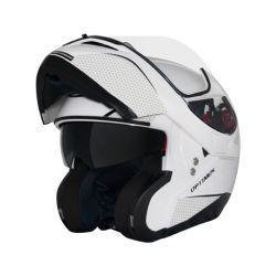Capacete MT Optimus SV Solid White Escamoteável