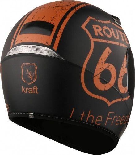 Capacete Route 66 Full Face Preto Fosco Kraft
