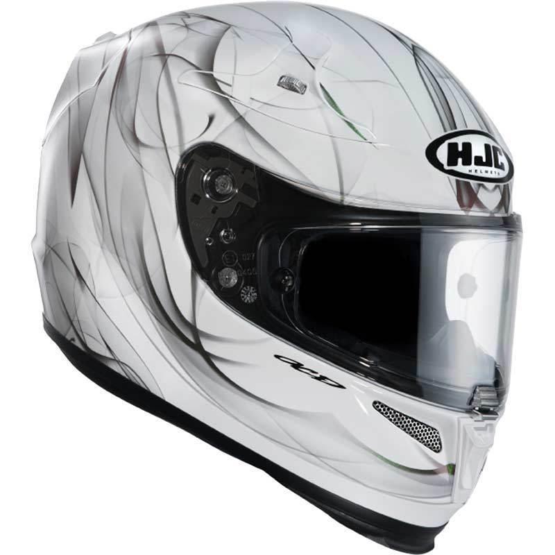 capacete hjc r pha 10 oria branco preto mc10. Black Bedroom Furniture Sets. Home Design Ideas