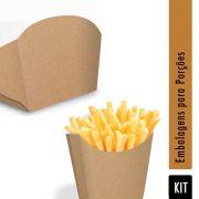 KIT 300 Caixas pra Batata Frita + 200 Caixas pra Porções Gourmet
