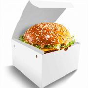 Box   Caixa Grande para Lanche ou Hambúrguer BRANCO - 100 Unidades