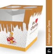Box   Embalagem para Churros Espanhol - 500 unidades