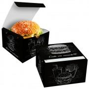 Box | Embalagem para Hambúrguer Artesanal G PRETO - 100 unidades