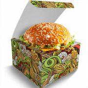 Box | Embalagem para Hambúrguer Artesanal G VERDE - 1000 unidades