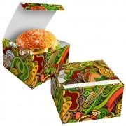 Box | Embalagem para Hambúrguer Artesanal G VERDE - 100 unidades
