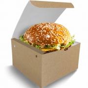 Box   Embalagem para Hambúrguer Delivery GG KRAFT - 100 unidades