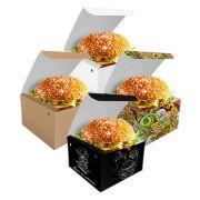 Box | Embalagem para Hambúrguer GRANDE VÁRIAS CORES