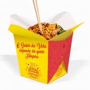 Box | Embalagem para Macarrão / Arroz Delivery AMARELO MÉDIO 750ml - 100 unidades