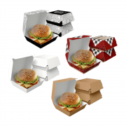 Caixa de Hambúrguer Tradicional VÁRIAS CORES