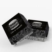 Caixa de Hambúrguer Tradicional – Várias Cores – 100 Unidades