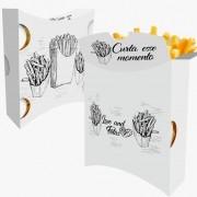 Caixa | Embalagem para Batata Frita Delivery BRANCO E PRETO - 100 unidades