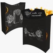 Caixa | Embalagem para Batata Frita Delivery PRETO - 100 unidades