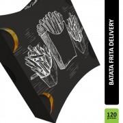 Caixa | Embalagem para Batata Frita Delivery PRETO - 500 unidades