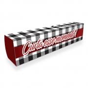 Caixa| Embalagem para Delivery 1 Churros XADREZ - 100 unidades