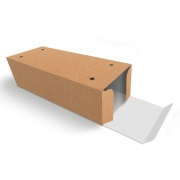 Caixa| Embalagem para Delivery 2 Churros KRAFT - 100 unidades